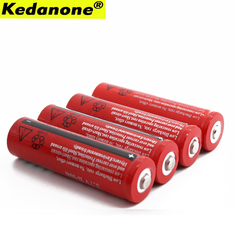 18650 Battery <font><b>3.7</b></font> <font><b>V</b></font> 4200 mAh Li-ion Rechargeable Battery for LED Flashlight Rechargeable Batteries Accelerator + Free Shipping image