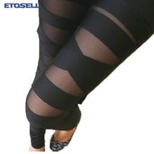 Fashion Leggings Mesh Womens Leggins 2017 Sexy Halloween Gothic Legging Slim Black Punk Rock Elastic Bandage Femme Pants