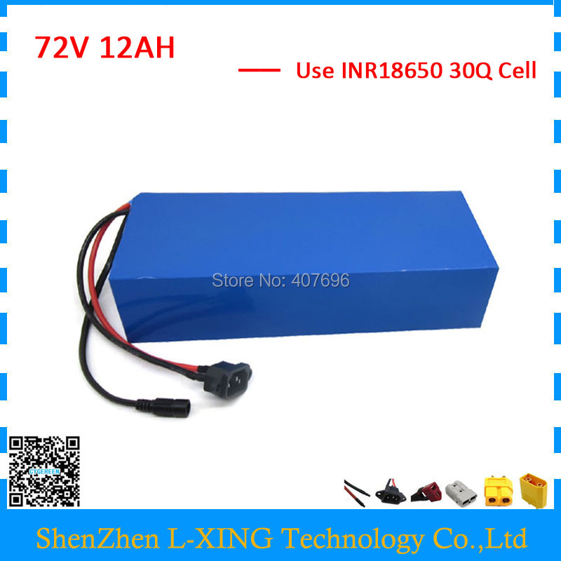 No customs fee Battery 72V 12AH 72V Lithium battery pack use samsung 30Q Cell 40A BMS with 2A Charger free customs taxes and shipping balance scooter home solar system lithium rechargable lifepo4 battery pack 12v 100ah with bms