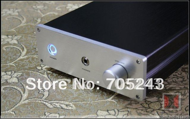 beautiful Headphone AMP chassis (box)  enclosure full Aluminum case 2KG