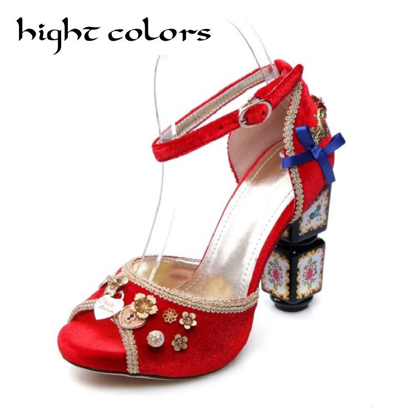 Suede Sweet Elegant High Heel Sandals Summer New Women Gladiator Sandals Pink Red Wedding Party Sandals For Women Big Size 40 43