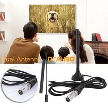 Stand Type Plastic Digital 50 Miles Range HDTV Antenna TV Antenna Indoor Signal Receiver Aerial Booster Televison Receivers(China)