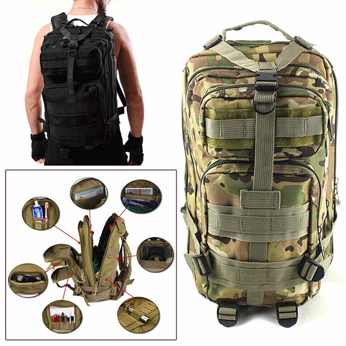 35L Outdoor Tactical Backpack Sport Camping Hiking Rucksack Daypack Shoulder Bag