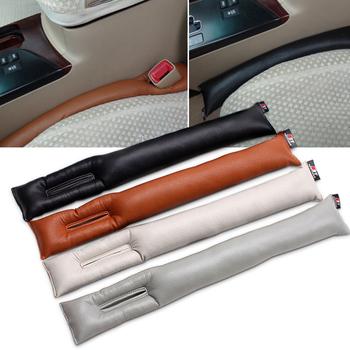 2 sztuk 46x7cm PU uniwersalne czyste kolory szczeliny siedzenia wtyczki szczelinowe wkładki ochronne wyściółka Car Styling wnętrze akcesoria mody tanie i dobre opinie Wewnętrzny Inne naklejki 3d cartoon Karoserii Nie pakowane MNLAD2120