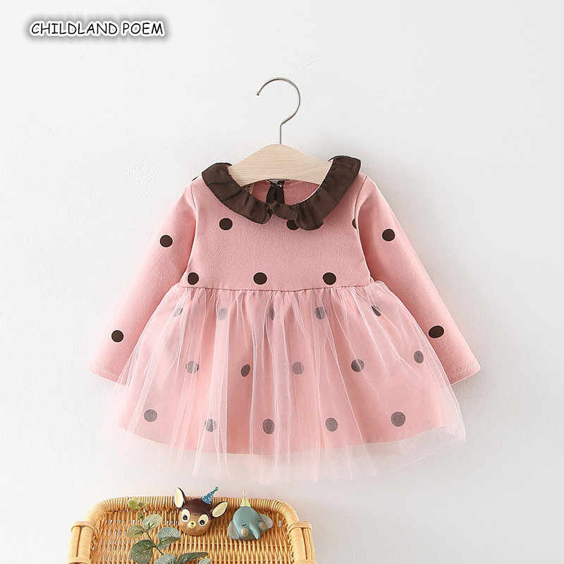 19210e5864 Detail Feedback Questions about Baby Girl Dress Spring 2019 Polka Dot  Princess Baby Dress Long Sleeve Vestido Infantil Lace Tutu 1st Birthday  Party Infant ...