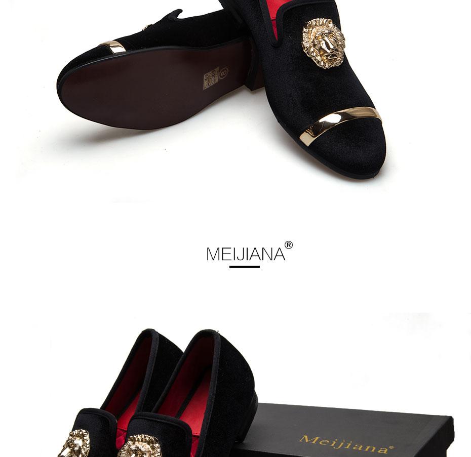 HTB1JDYEXTZRMeJjSsppq6xrEpXao - New Fashion Gold Top and Metal Toe Men Velvet Dress shoes italian mens dress shoes Handmade Loafers