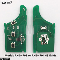 QCONTROL Car Remote Control Key Electronic Circuit Board for KIA RKE 4F03 or RKE 4F04 CE 433 EU TP 433MHz
