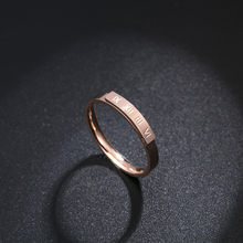 469c3f91ea Korean Version Of The New Roman Numeral Ring Couple Models Titanium Steel  Rose Gold Ring Jewelry Anneau R18082