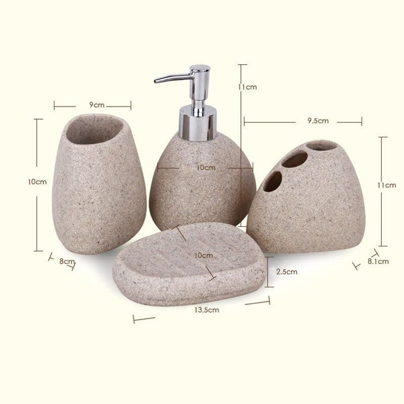 5 pièces/ensemble accessoires de salle de bain résine pavé Design Latex bouteille dent verre savon porte-brosse à dents décoration de la maison RT99