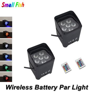 Wireless DMX Battery Power RGBWY UV 6IN1 LED Par Can Light With Wifi & Remote For Wedding Uplight Dj Laser Lights Led Par Light wireless dmx battery power rgbwy uv 6in1 led par can light with wifi