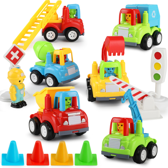 Everything For Boys Toy Cars : Kids cars toys set inertia pull back engineering car model