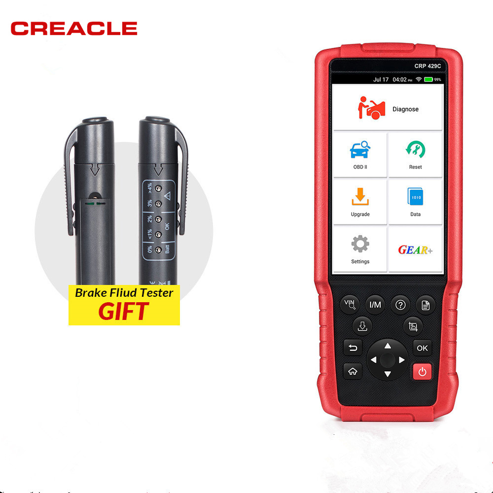 LAUNCH X431 CRP429C OBD2 Code Reader Scanner for Engine/ABS/SRS/AT+11 Reset Service Creader CRP429 Car Diagnostic Tool free ship