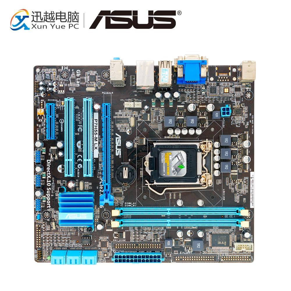 Asus P7H55-M LX Desktop Motherboard H55 Socket LGA 1156 i3 i5 i7 DDR3 uATX On Sale original motherboard asus p7h55 m socket lga 1156 ddr3 h55 16gb for i3 i5 i7 cpu desktop motherboard free shipping