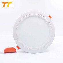 2pcs lot led panel light 3w 5w 7w 9w 12w 15w 18w led ceiling recessed grid downlight / slim round led panel light cold/warmwhite