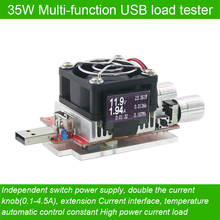 usb electronic load adjustable constant current aging resistor 35w battery voltage capacity tester qualcomm qc2.0/3.0 voltmeter(China (Mainland))