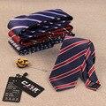 32 cores dos homens high-end da moda designers De Negócios de casamento gravatas jacquard estreito 7 cm poliéster gravata de seda para os homens 10 pçs/lote