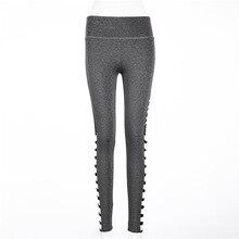 Fashion Gray Letter Print Women Leggings