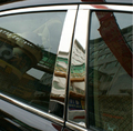 Auto middle window trims for Toyota Camry 2015,6pcs/set,stainless steel,car exterior decoration accessories