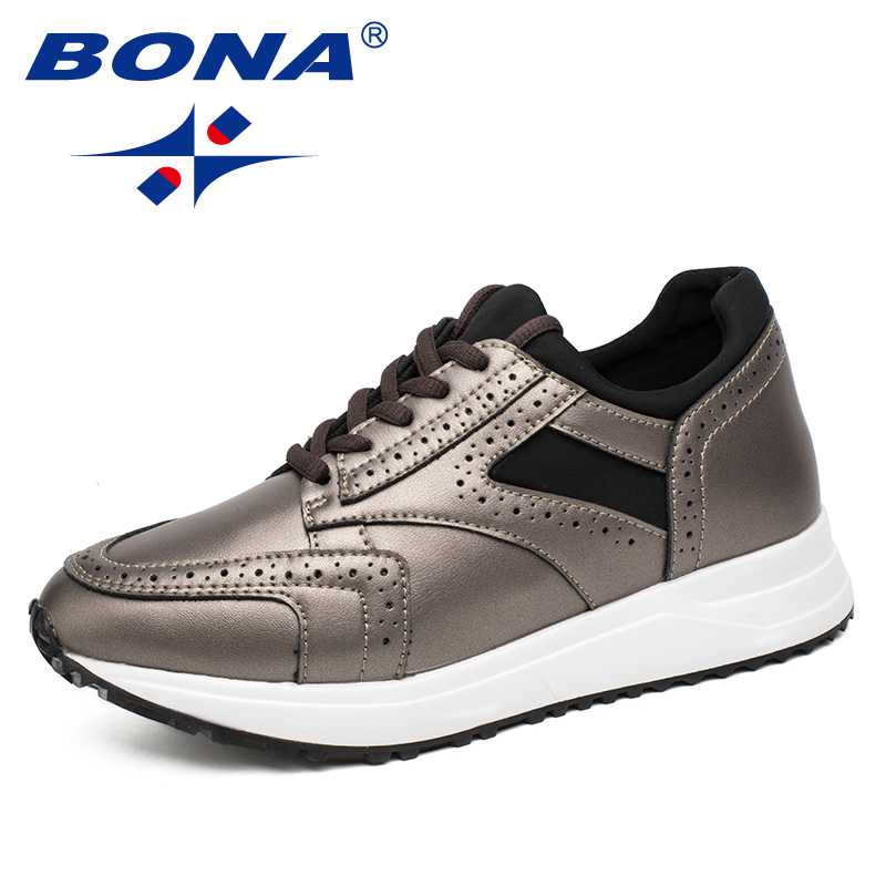 BONA New Classics Style Women Running Shoes Outdoor Jogging Sneakers Lace Up Women Athletic Shoes Comfortable Soft Free Shipping peak sport men outdoor bas basketball shoes medium cut breathable comfortable revolve tech sneakers athletic training boots