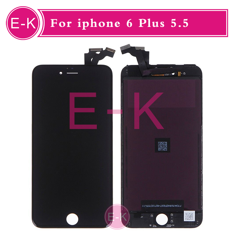 DHL 10pcs/lot AAA High Quality For iPhone 6 Plus 5.5 Touch Screen Digitizer Display LCD Assembly Complete White Or Black