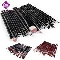 20pcs Set 3colors Optional Wood Holder Makeup Brushes Soft Foundation Brush Cosmetic Cream Powder Blush Brushes