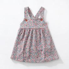 새로운 가을 소녀 드레스 스트레치 코듀로이 와이드 꽃 드레스와 어깨 끈 귀여운 가을 어린이 조끼 드레스 2 7 y