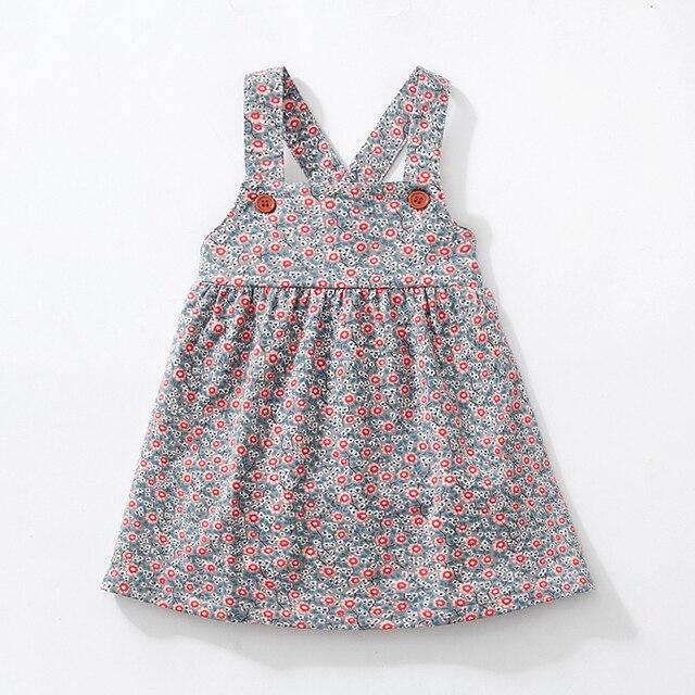 Robes larges en velours côtelé, extensibles, à bretelles aux épaules, robe gilet mignon, automne, pour enfants de 2 à 7 ans, nouvelle collection