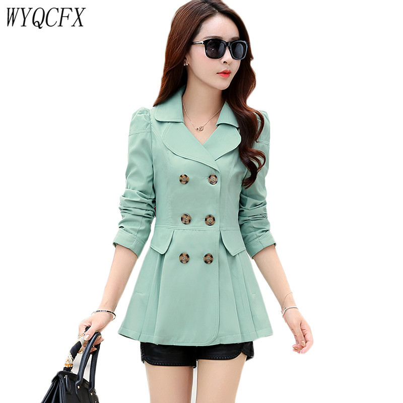 Oversized Double Breasted   Trench   Coat Women Spring Autumn Solid Color Slim Outerwear Female 2019 New Elegant Windbreaaker Tops