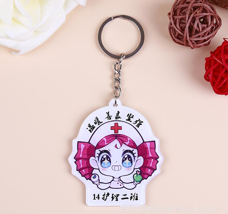 custom acrylic keychains with your design or photo for gifts fashion individuation key ring with background