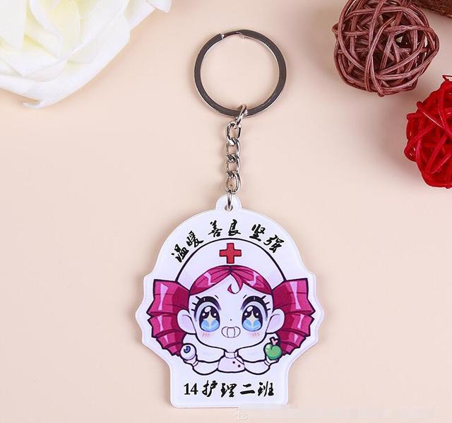 US $43 98 |custom acrylic keychains with your design or photo for gifts  fashion individuation key ring with background color is white color-in Key