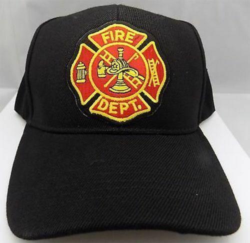 VOLUNTEER FIRE DEPARTMENT FIRE FIGHTER EMBROIDERED BASEBALL CAP V.F.D.