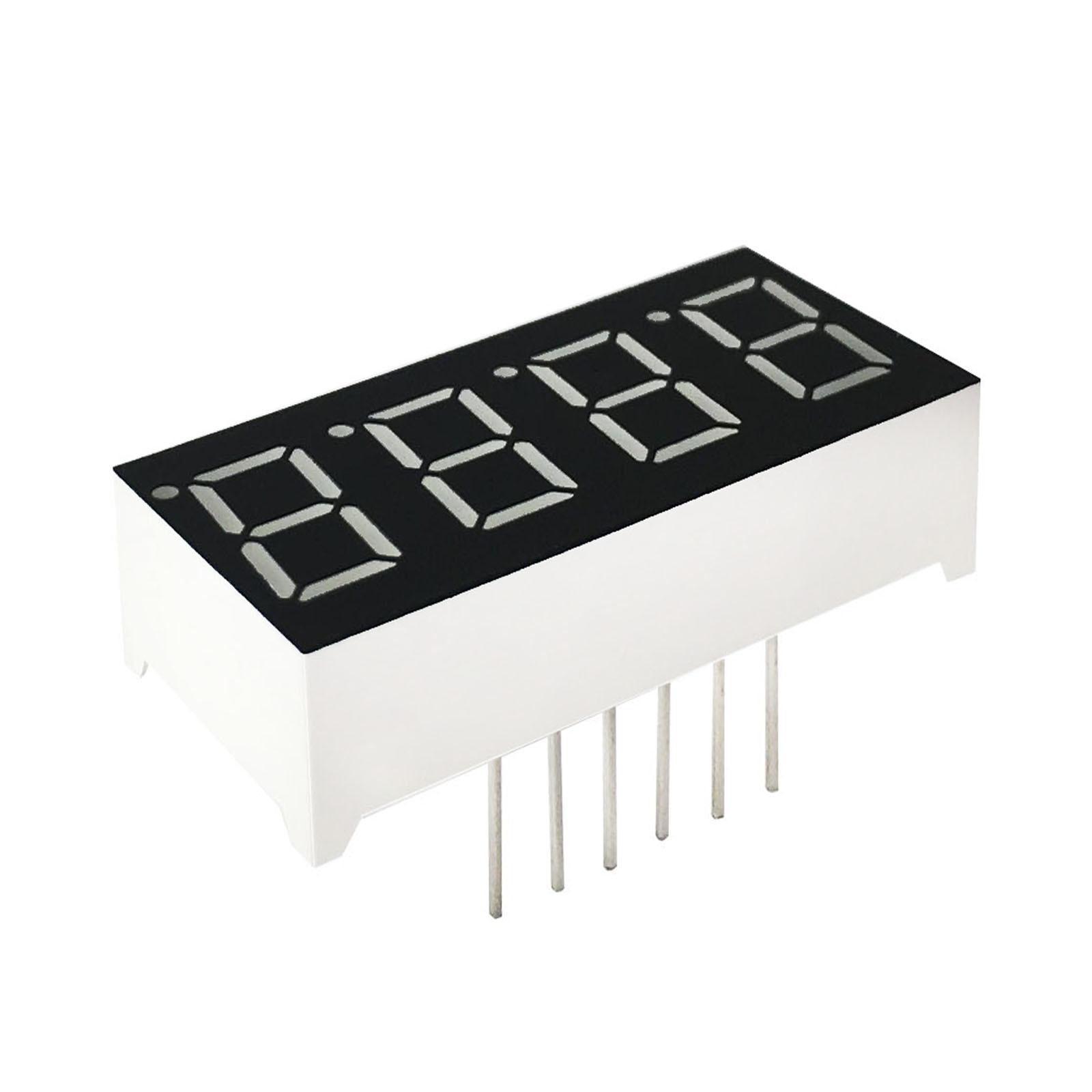 MCIGICM 10pcs 7 Segment Common Cathode 4 Bit Digital Tube 0.36