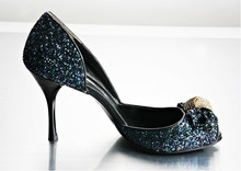 New Arrived silver wedding shoes sexy high-heeled Sequined bridal dress shoes Ladies Sandals