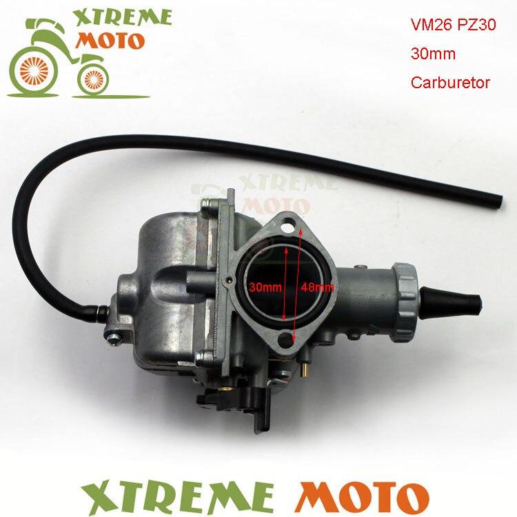 Main starter 30mm Carb VM26 PZ30 carburateur pour 200cc 250cc Motocross Enduro Pit Dirt Bike ATV QUAD moto tout-terrain