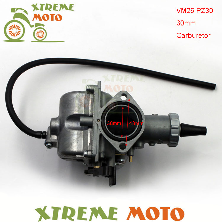 Main starter 30mm Carb VM26 PZ30 carburateur pour 200cc 250cc Motocross Enduro Pit Dirt Bike ATV QUAD moto tout-terrain