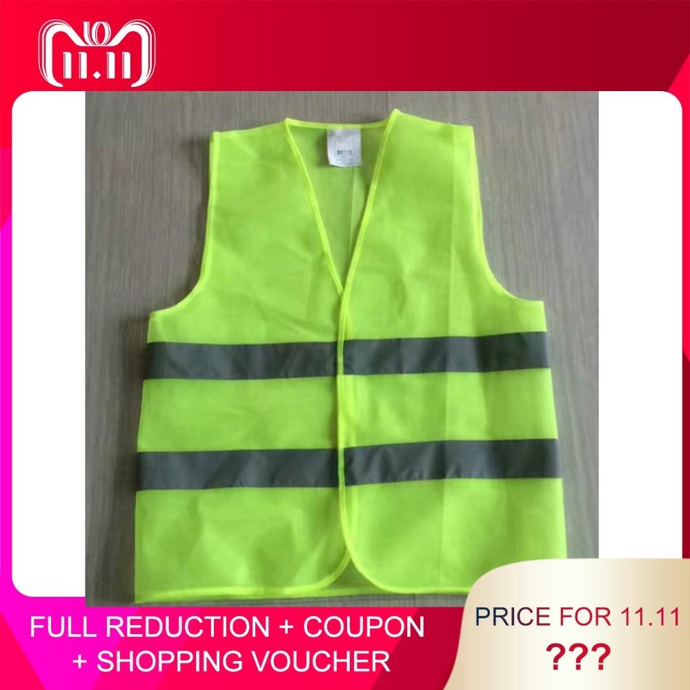 все цены на XL XXL XXXL Reflective Fluorescent Vest Yellow Orange Color Outdoor Safety Clothing Running Ventilate Safe High Visibility