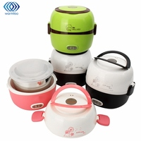Electric Rice Cooker Insulation Heating Portable 1 3L Electric Lunchbox 2 Layers Steamer Multifunction Automatic Food