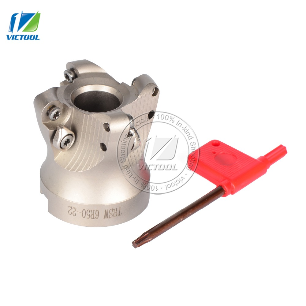 Free Shiping TRSW6R50-22-4T Milling tool For milling insert  RDMT1204 Face Mill Shoulder Cutter TRSW6R50-22-4T insert  RDMT1204 free shiping bap400r 63 22 4t milling tool with 10pcs carbide milling insert apmt160408 face mill shoulder cutter bap 400r 63 2