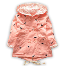 Spring Autumn Baby Coat Outwear Children's Jackets Clothes Casco Infants Outerwear Girl Hoody Cardigan Trench Coat