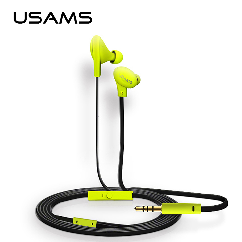 USAMS 1.2m In-Ear Wired 3.5mm Colorful Doug Earphone Waterproof Sport Earphones Earbuds with Microphone for iPhone Samsung LG m320 metal bass in ear stereo earphones headphones headset earbuds with microphone for iphone samsung xiaomi huawei htc