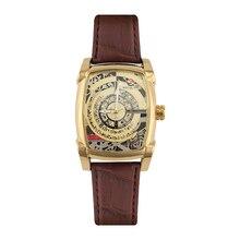 Mens Watches Top Brand Luxury Casual Leather Quartz Clock Male Sport Waterproof Watch Gift Gold Watch Men Relogio Masculino цена 2017
