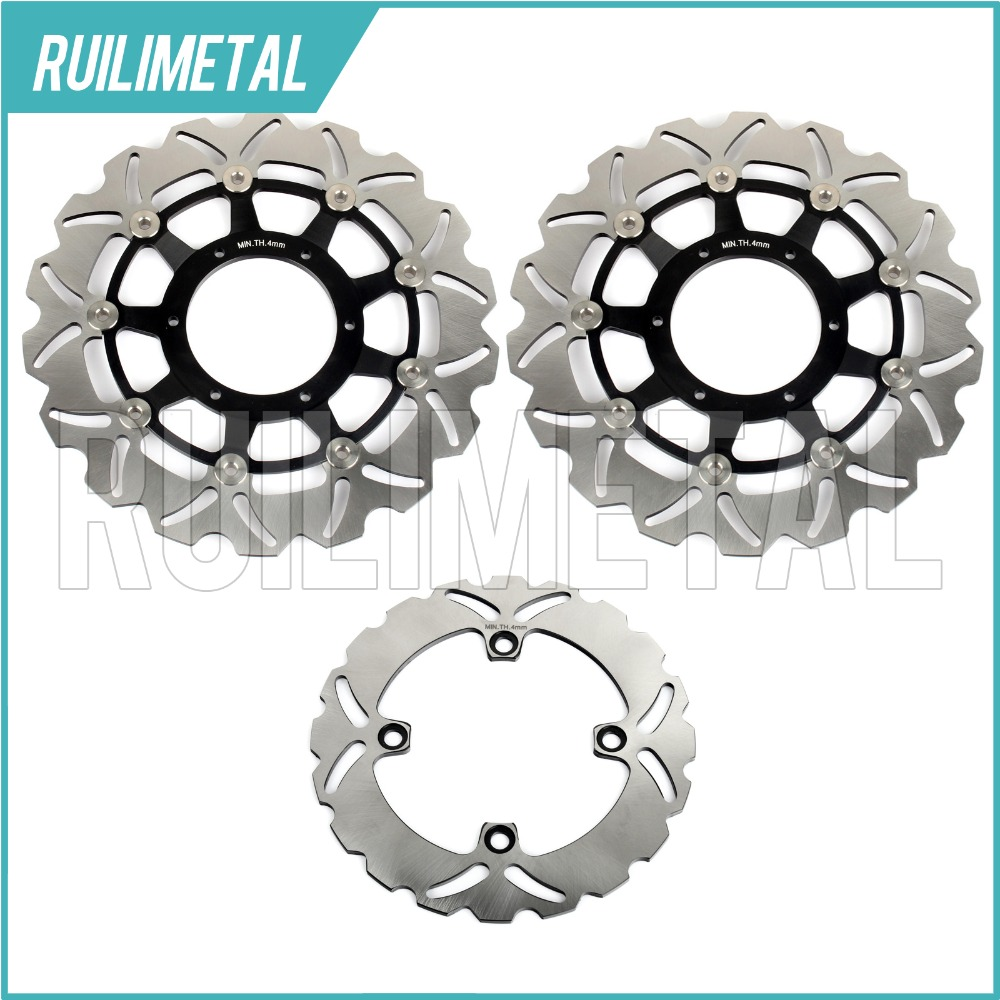 Full Set Front Rear Brake Discs Rotors for Honda CBR 600 F Sport F4i SuperSport F4 01 02 03 04 05 06 07 F1-F7 F6 CBR600F SPORT 2001 2002 2003 2004 2005 2007 full set motorcycle new front rear brake discs rotors for honda cbr600f cbr 600 f supersport f4