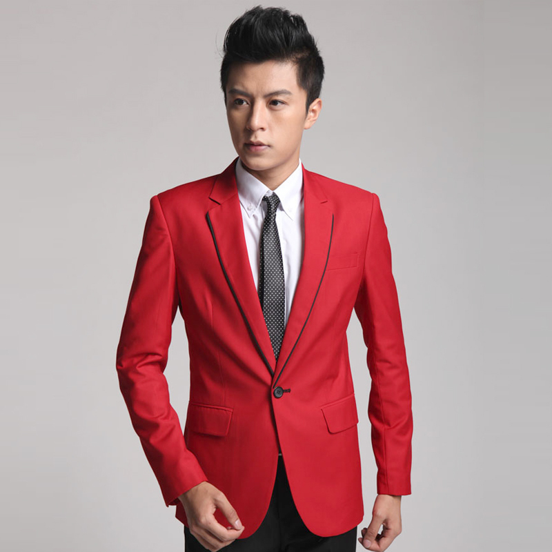 High Quality Red Blazer Men Promotion-Shop for High Quality ...