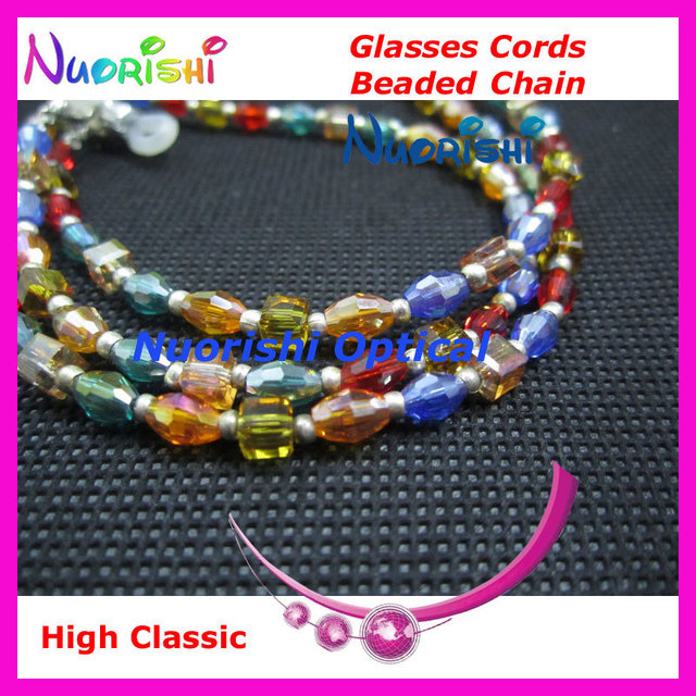 free shipping L818  high classic nice beaded eyeglasses sunglasses eyewear spectacle chain cords