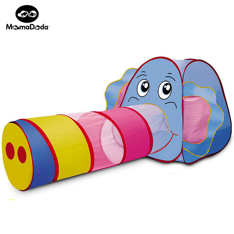 kids elephant play tents pipeline crawling tunnel toy house for children outdoor yard playpen indoor ocean ball pool game room купить