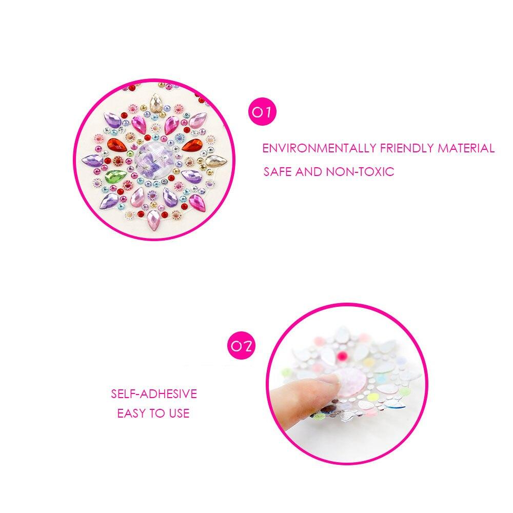 Трехмерная Наклейка кристальная Наклейка Пластиковые Детские заметки стеклянные горячие наклейки для стемпинга подарки украшения компьютерная мебель