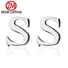 New Style Letter S Cufflinks for Men's Wedding Cufflinks Sim