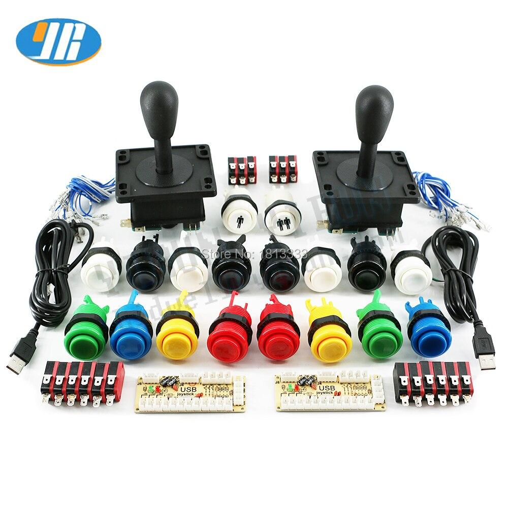Arcade Happ Joystick Button DIY Kit for PC USB Encoder 8 Way Stick Push Buttons diy arcade game control board kit(China)