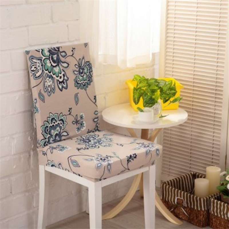 Champagne Flower Chair Covers Cheap Jacquard Stretch For Dining Room Decoration Short V43