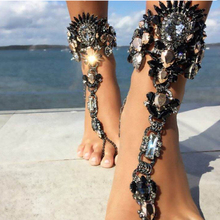 Hot Style Fashion Bracelet Wedding Barefoot Sandals Beach Foot Jewelry Sexy Pie Leg Chain Anklet Female Boho Crystal Bracelet